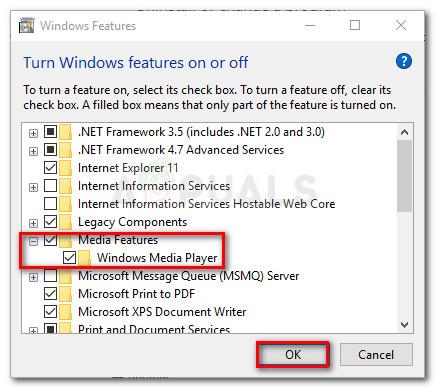 Aktivieren Sie die Windows Media-Funktionen