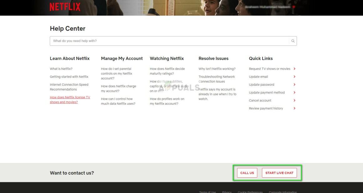 Offizielle Netflix-Hilfe-Website