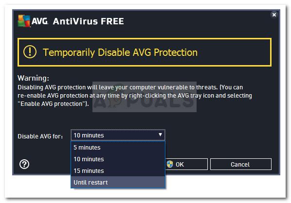 Deaktivieren Sie den Echtzeitschutz Ihres Drittanbieter-AV
