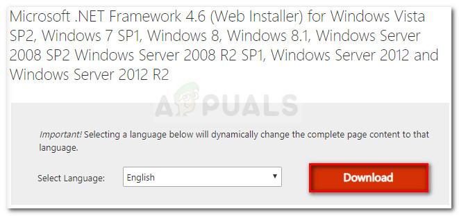 Herunterladen von Microsoft .NET Framework 4.6