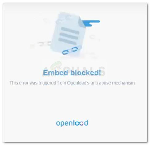 Einbetten blockiert!  Dieser Fehler wurde durch den Anti-Missbrauchsmechanismus von Openload ausgelöst