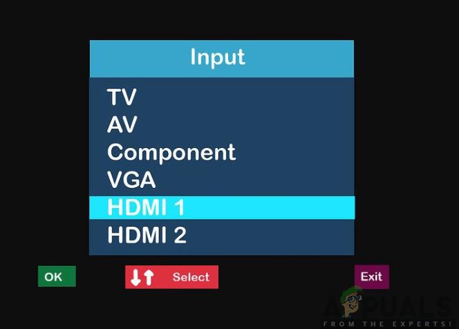 Ändern des TV-Eingangs in den HDMI-Kanal