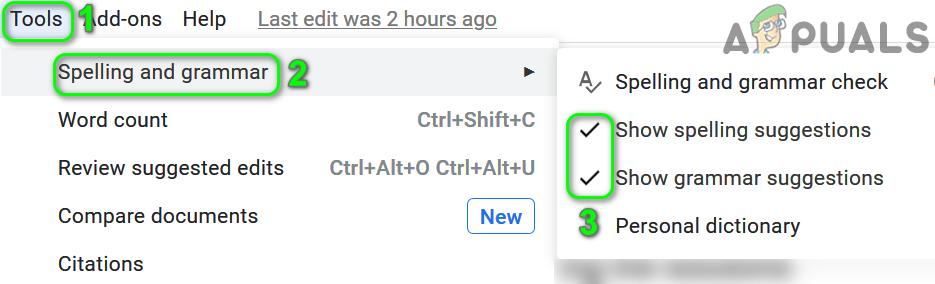 Fix: Google Docs Spell Check not Working - Appuals.com