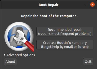 Reparación de arranque de Ubuntu