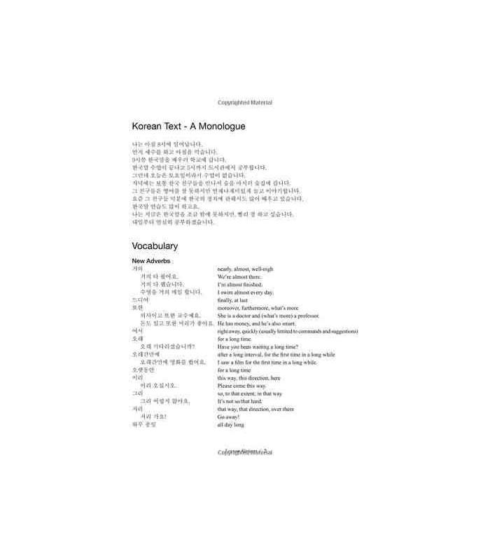 Continuing Korean- Second Edition (Mit Audio CD-ROM