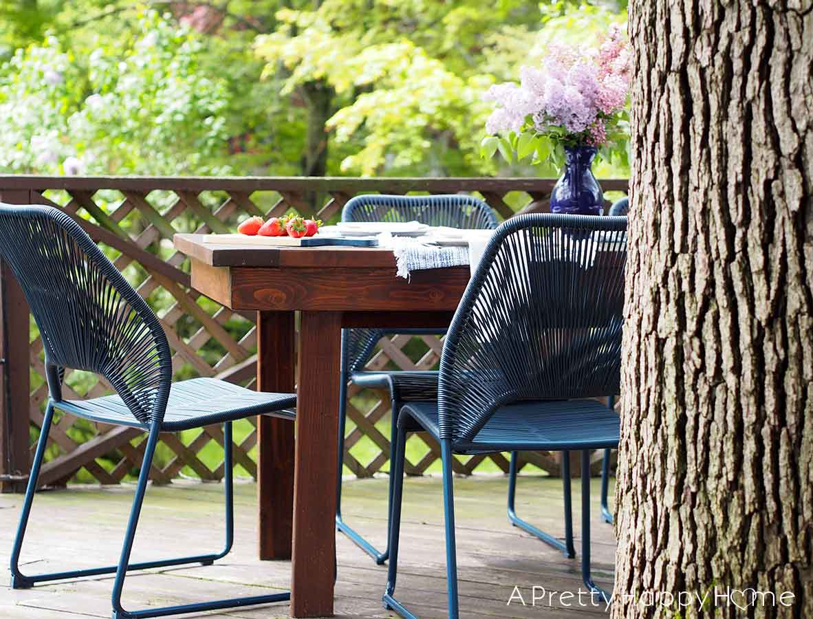 navy blue outdoor dining chairs add a
