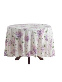 Lilac Round Tablecloth | Linens & Kitchen, Tablecloths ...