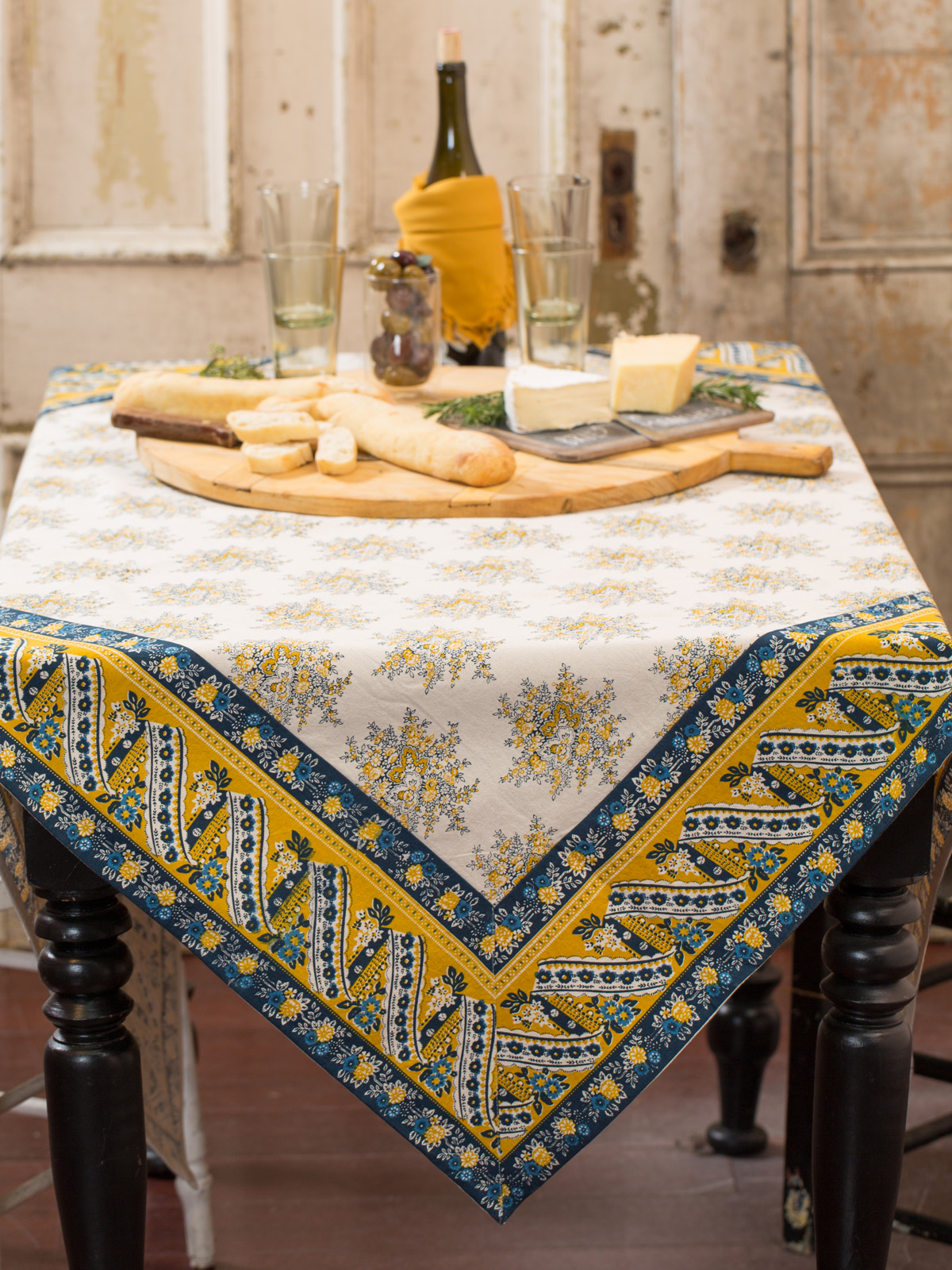 Marseille Tablecloth  Gold  Table Linens  Kitchen
