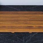ᐈluxury Aquatica Universal 33 5 Waterproof Iroko Wood Bath Shower Floor Mat Best Prices Aquatica