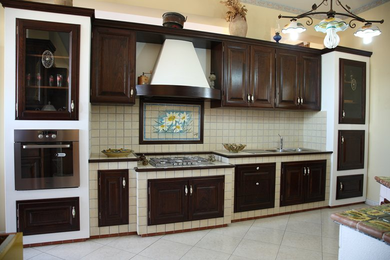 Cucina finta muratura  Caruso Arredi