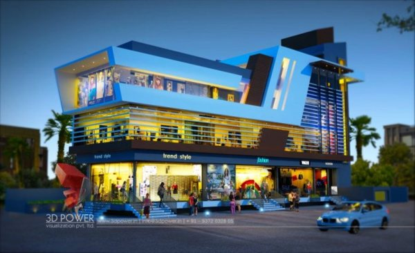 exclusive 3d shopping mall day