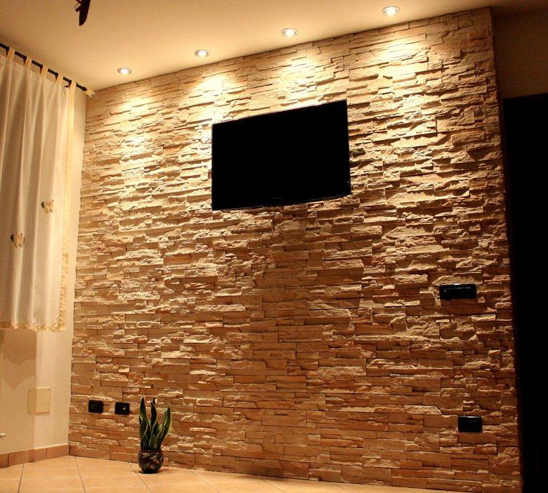 Pavimento rivestito in pietra indiana. Wall Rivestimento Della Parete In Pietra Ricostruita Live Stone Pietre E Mattoni Ecologici