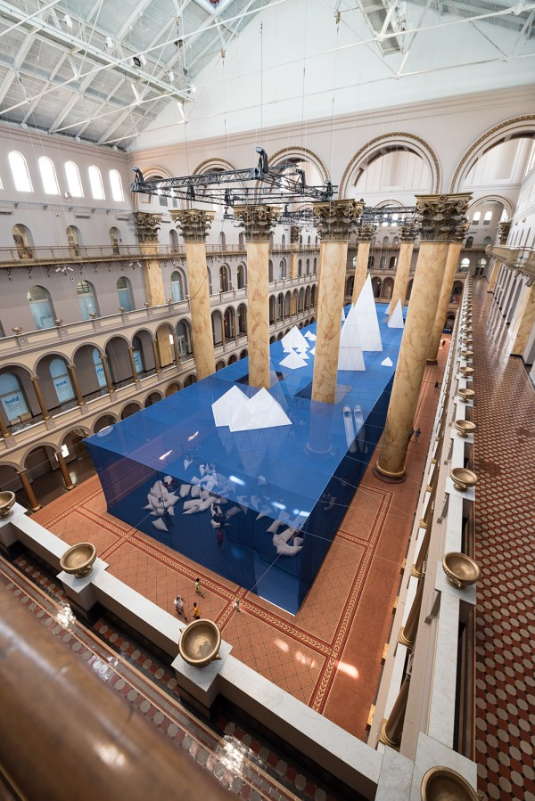Cool In James Corner' Icebergs Open National Building Museum