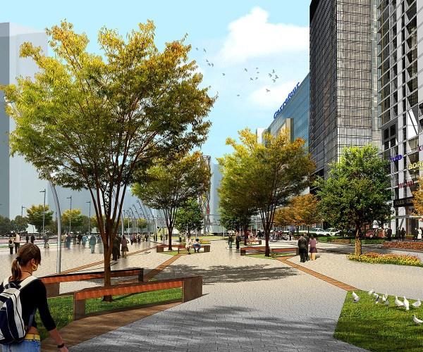 qianjin dong lu street landscaping