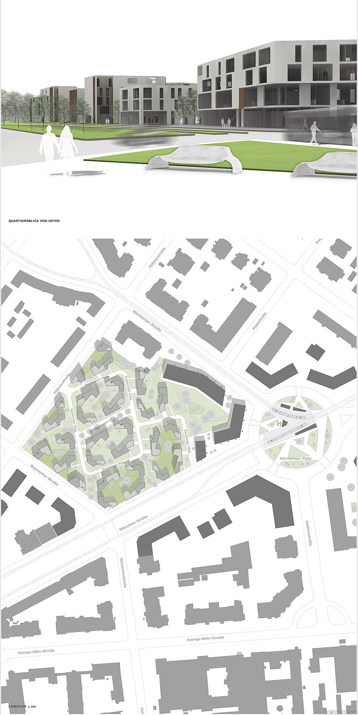 "New Town Houses And Urban Design For ""dresden Suedvorstadt"