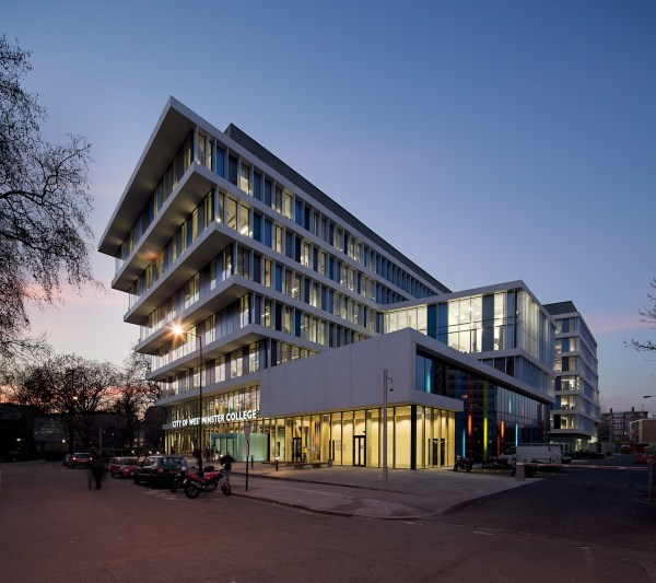 City Of Westminster College Troldtekt Archinect