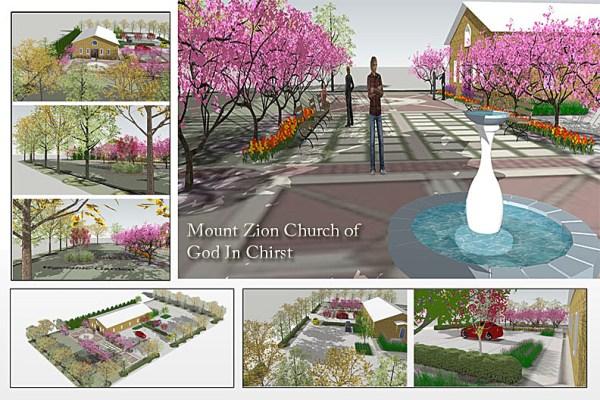church landscaping design