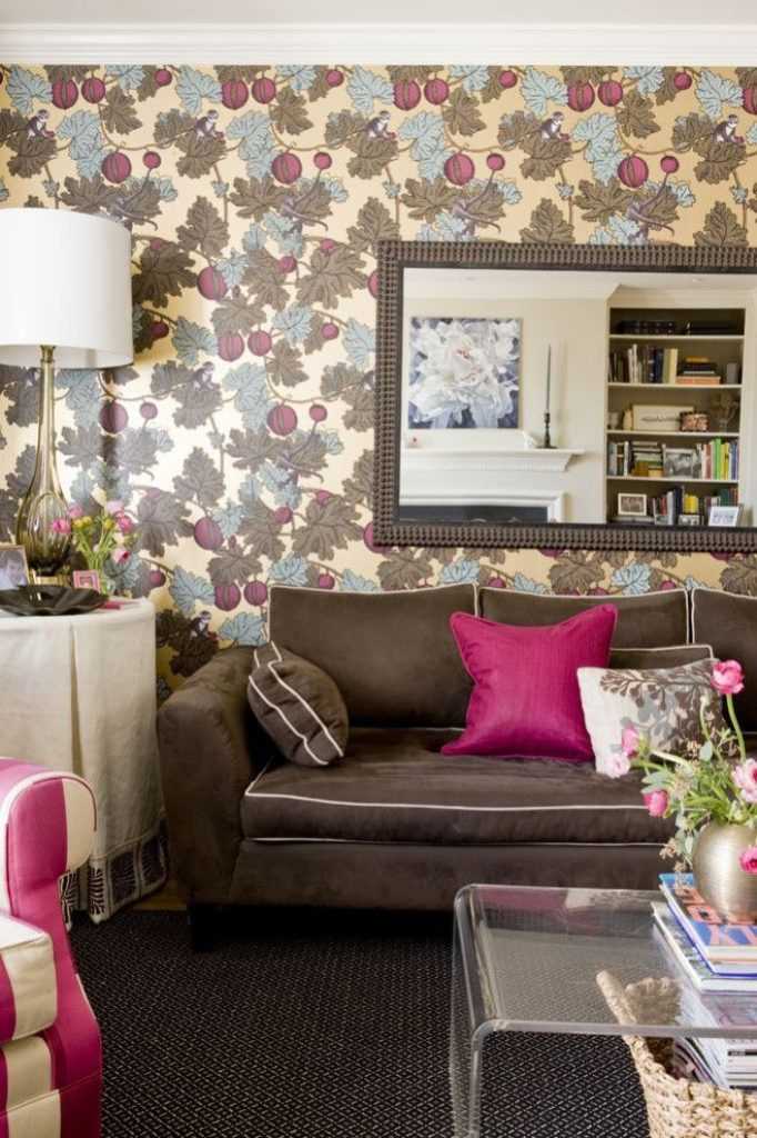 interior designs for living room with brown furniture beautiful rooms leather learn what colors go and how to use them the bright vivacious shade of color pink adds personality more neutral brightens up whole atmosphere