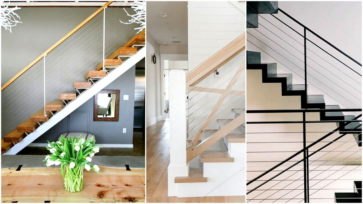 What You Need To Know And How To Use Cable Railings In Your   Glass Stair Railing Cost   Living Room   Glass Balustrade   Simple   Grill   Glass Wood Combined