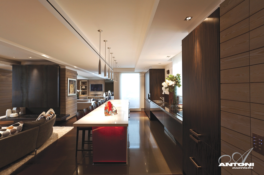 kitchen island seating movable magnificent luxury penthouse apartment in paris ...