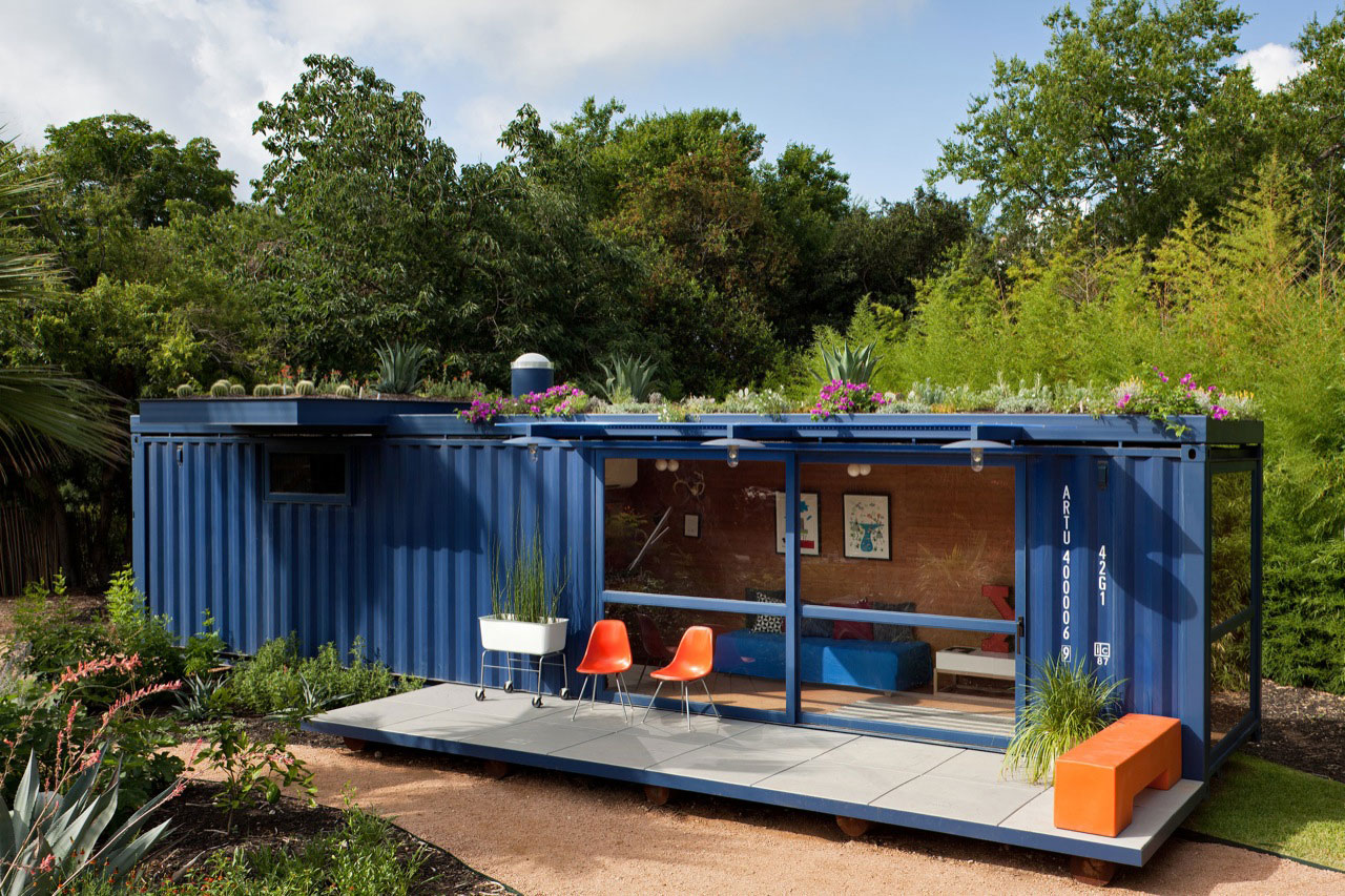 Shipping Container Guest House by Jim Poteet  Architecture  Design