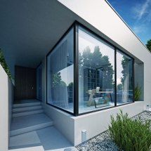 Modern Glass House Cube