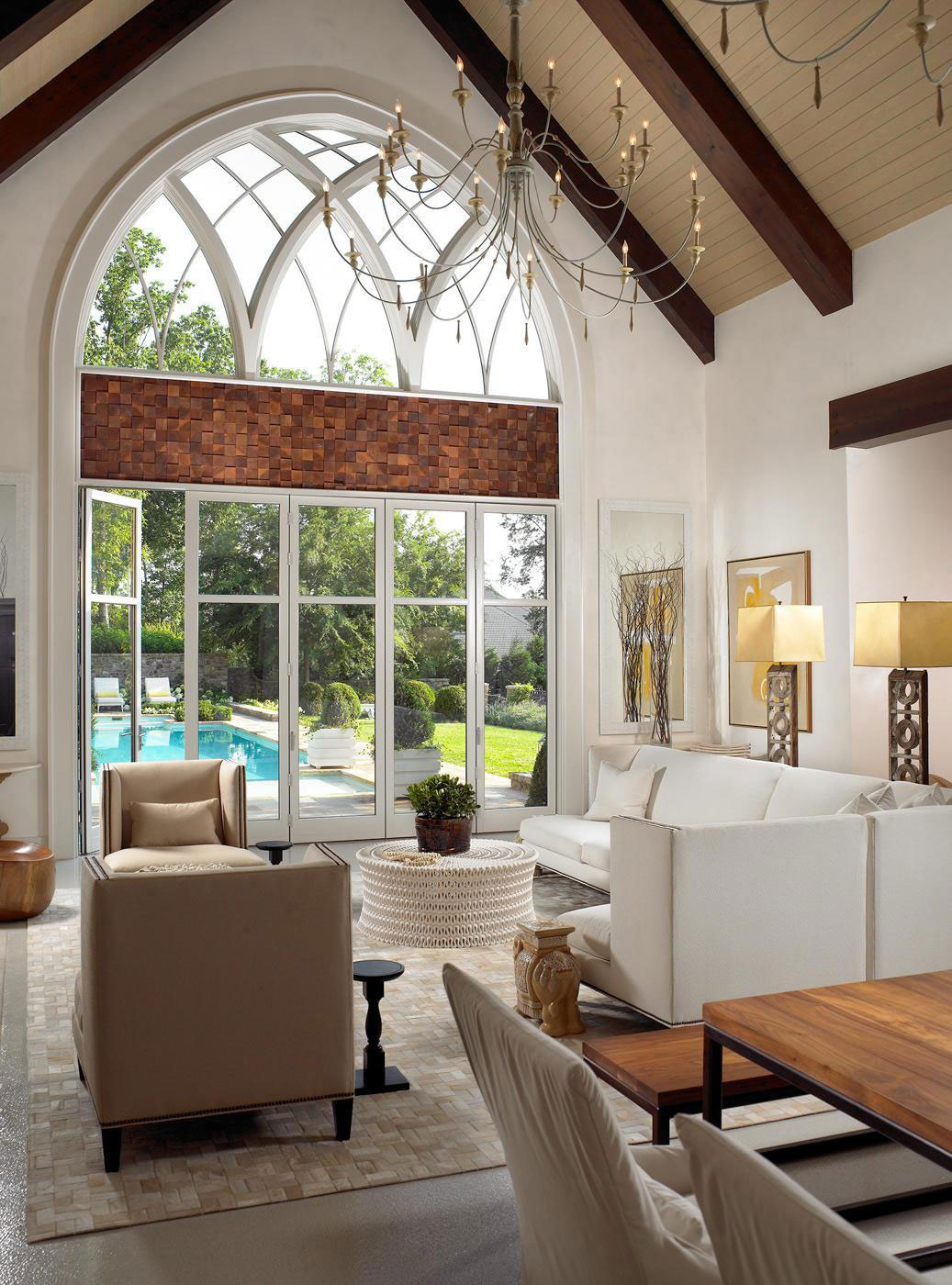 Stylish Pool House  Wine Cellar in Nashville Tennessee