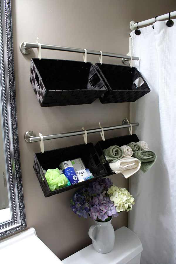 You might be left wondering where to put all of your belongings or how to make the space livable. 30 Brilliant DIY Bathroom Storage Ideas | Architecture