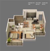 """50 Two """"2"""" Bedroom Apartment/House Plans   Architecture ..."""