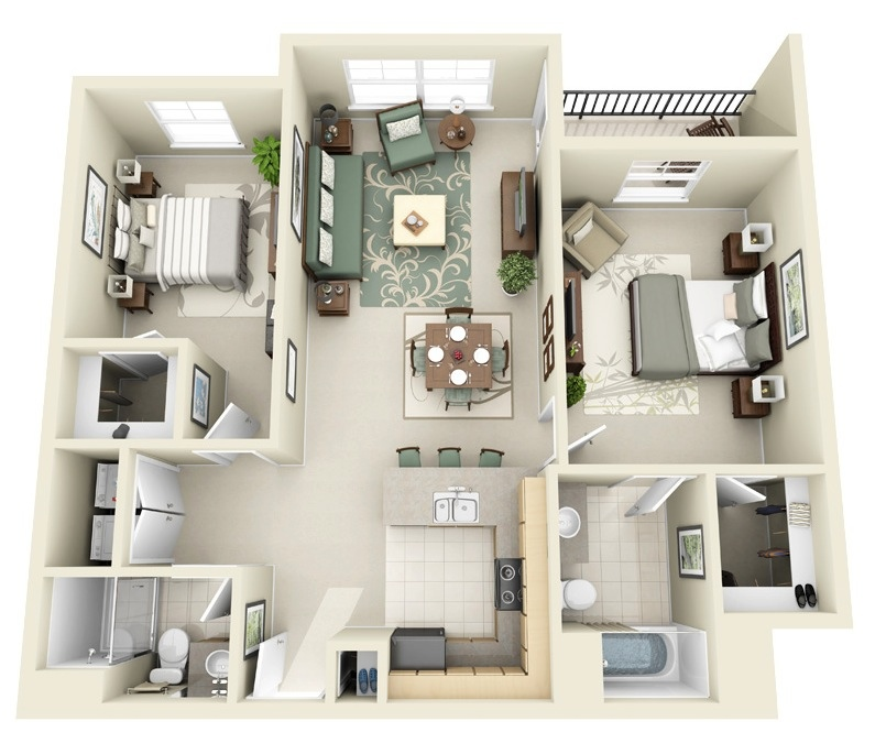 2 Bedroom House Wiring Diagram