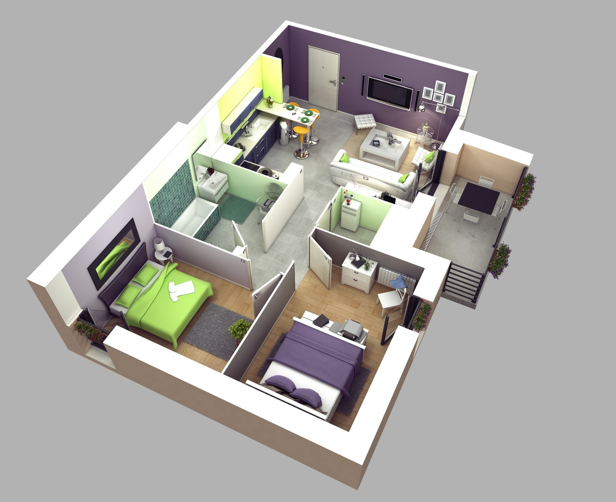 5-Two-bedroom-house-plan