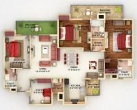 50 Four 4 Bedroom Apartment/House Plans | Architecture ...