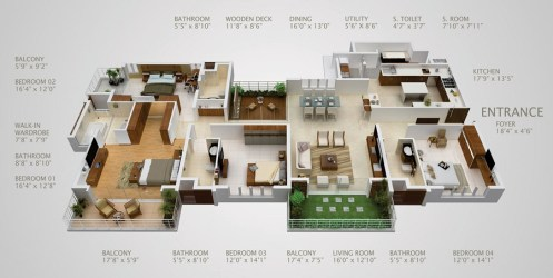 plans bedroom layout four apartment maple woods source
