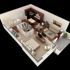 Small 1 Bedroom Living Room Ideas Grey White And Silver 50 One Apartment House Plans Architecture Design 37 Plan