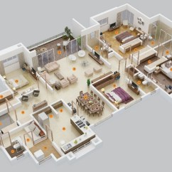 Diagram Ideas Msd 7al 2 Wiring 7220 50 Four 4 Bedroom Apartment House Plans Architecture
