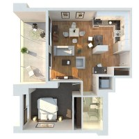 50 One 1 Bedroom Apartment/House Plans   Architecture ...