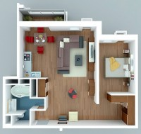 50 One 1 Bedroom Apartment/House Plans | Architecture ...