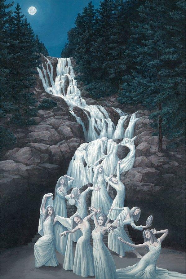 Mind-twisting Optical Illusion Paintings Rob