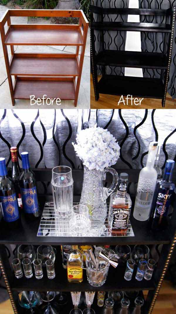 bar in living room grey couch decor 21 budget-friendly cool diy home you need your ...