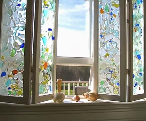 20 Cute DIY Home Decor Ideas With Colored Glass And Sea Glass