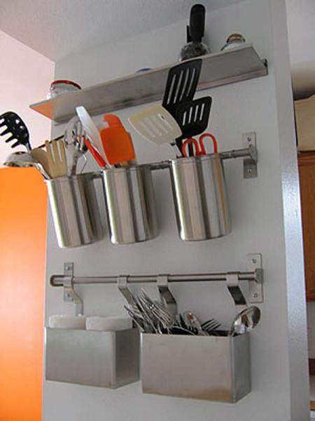 ikea kitchen hanging storage Top 27 Clever and Cute DIY Cutlery Storage Solutions