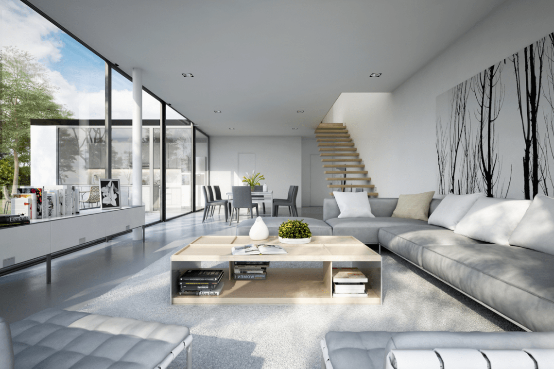 25 Modern Living Rooms With Cool, Clean Lines ...