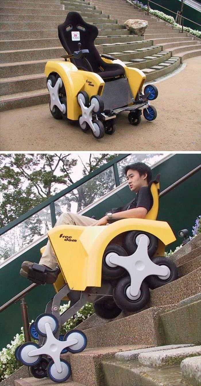 wheelchair genius camping chairs walmart 30+ borderline inventions that will actually make your life easier | architecture & design