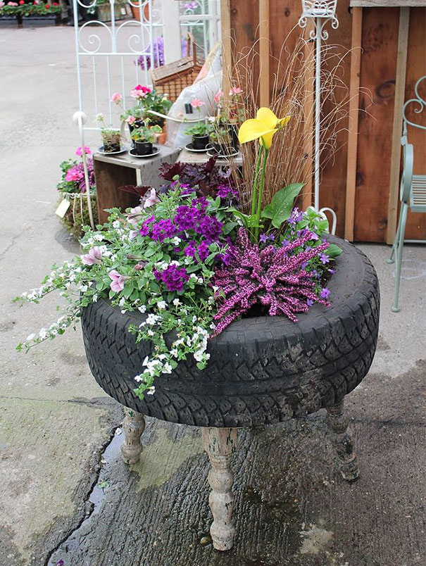 40 Brilliant Ways To Reuse And Recycle Old Tires  Architecture  Design