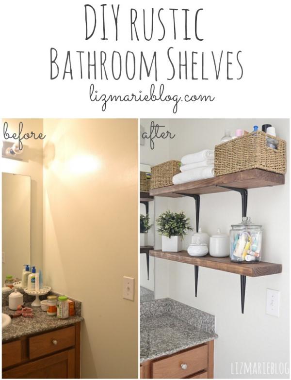 30 DIY Storage Ideas To Organize Your Bathroom