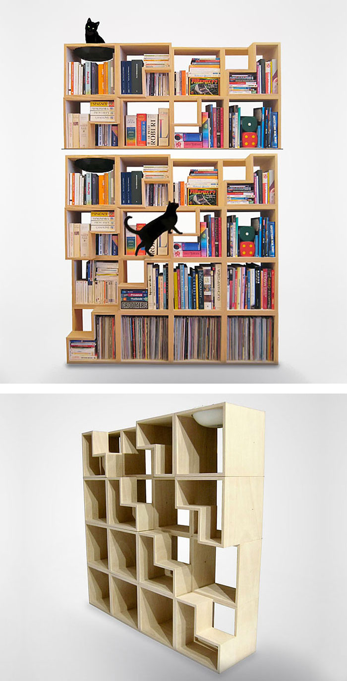 office chair wheel desk no wheels arms 50+ of the most creative bookshelves ever | architecture & design