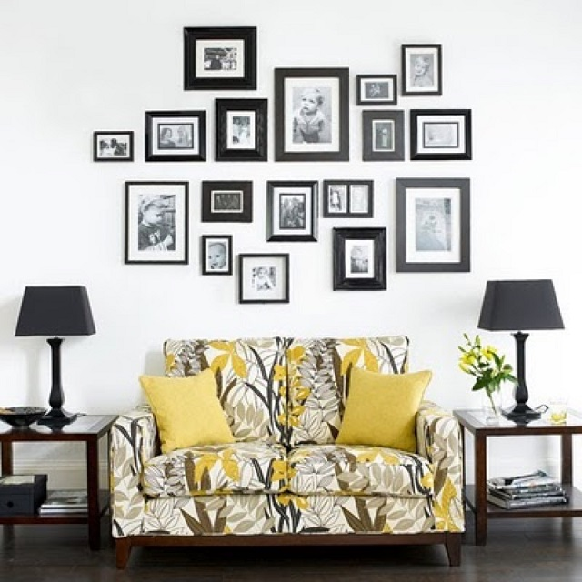 living room decorating ideas picture frames ceiling light for 50 cool to display family photos on your walls architecture ad