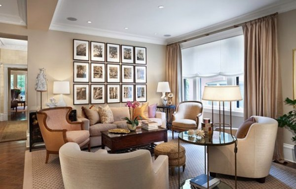 large living room wall decorating ideas 50 Cool Ideas To Display Family Photos On Your Walls