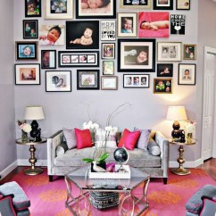 Decorating Living Room Walls With Family Photos Cabin Rooms 50 Cool Ideas To Display On Your Architecture Ad