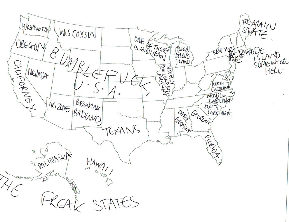 We Asked Brits To Label The United States Again, Because